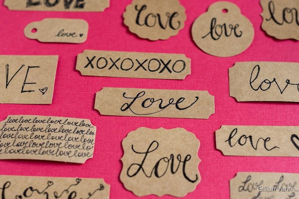 love words by Gillian Vann
