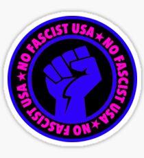 No fascist USA (blue) Sticker