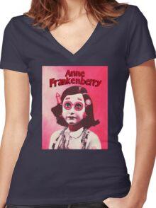 Anne Frankenberry Women's Fitted V-Neck T-Shirt