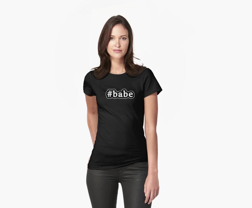 Babe - Hashtag - Black & White by graphix