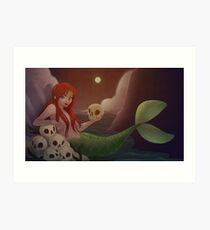 A Mermaid Life For Me Art Print