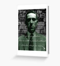 Lovecraft Haiku Greeting Card
