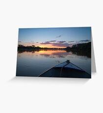 Sunset - Rio Pardo, Brazil Greeting Card