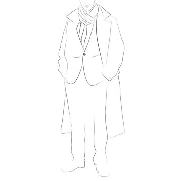 Sherlock - LineArt by ideando