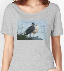 Great Blue Herons (with quote) Women's Relaxed Fit T-Shirt