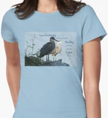 Great Blue Herons (with quote) Womens Fitted T-Shirt