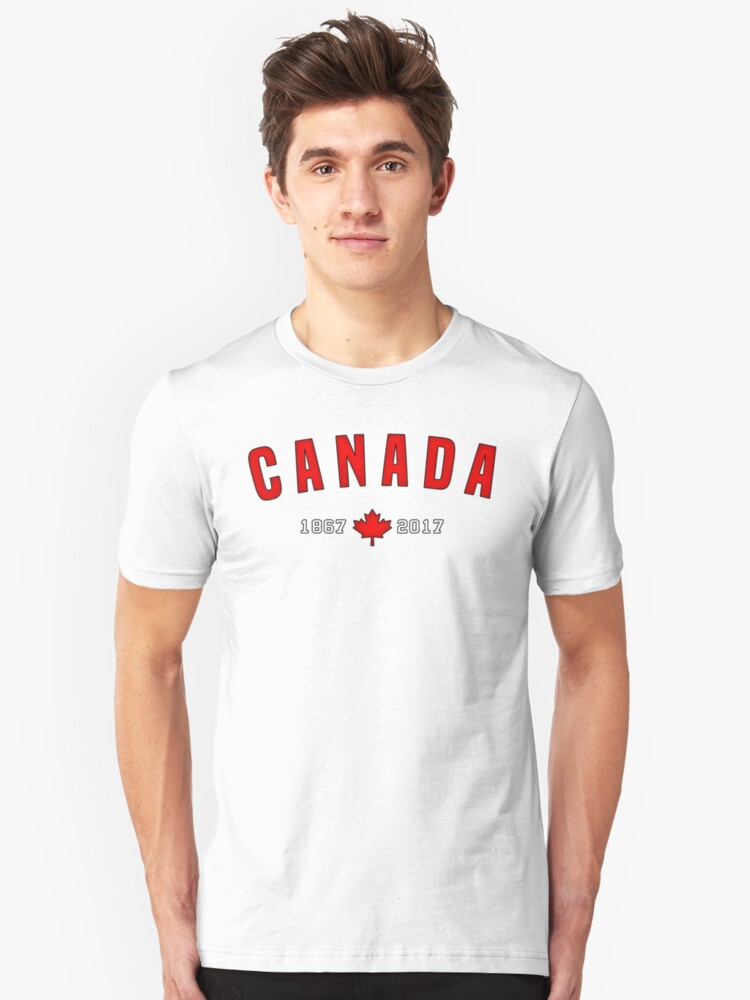 Canada 150 Anniversary Maple leaf Unisex T-Shirt Front