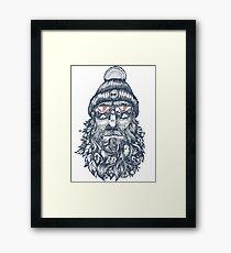 Captain Bird Beard shirt Framed Print