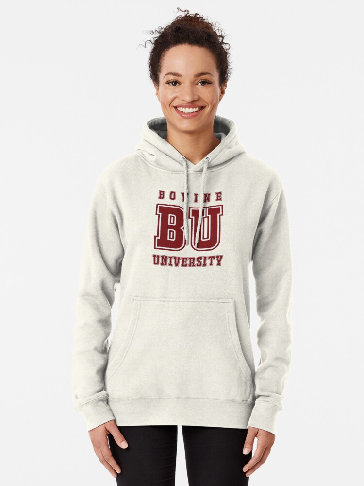 Alternate view of Bovine University - The Simpsons Pullover Hoodie