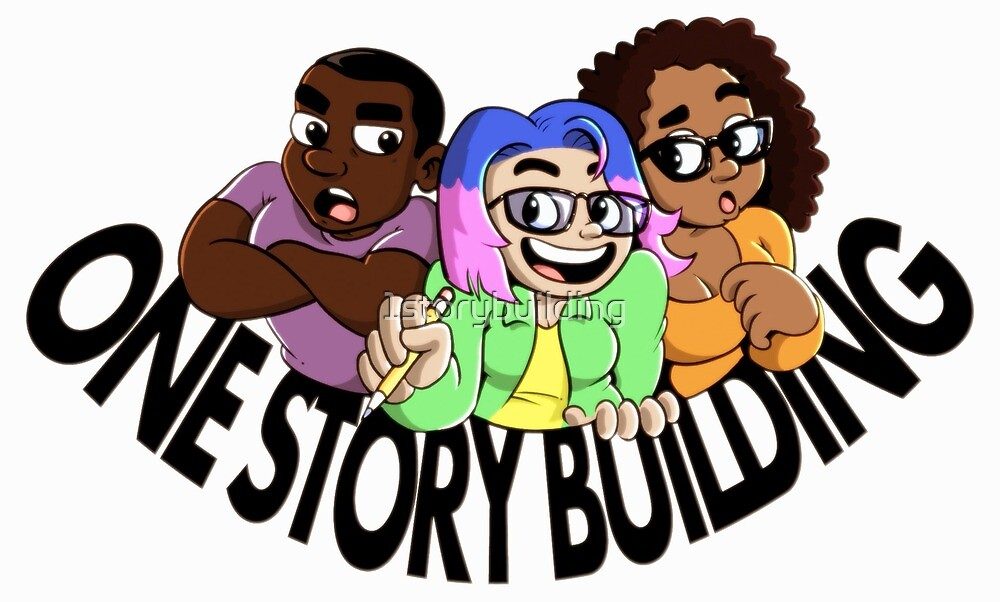 One Story Building Cartoon Shirt Design by 1storybuilding