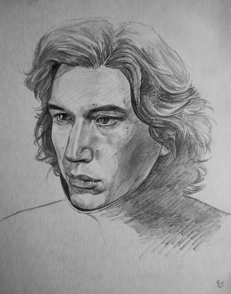 Kylo in Pencil by eb-leung