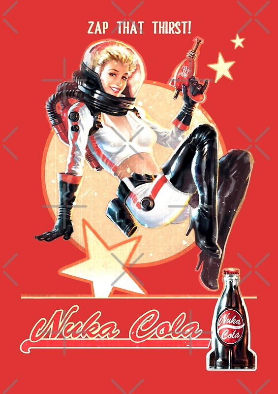 "Ben noto Nuka-Cola pin-up"" Posters by Schwaz 