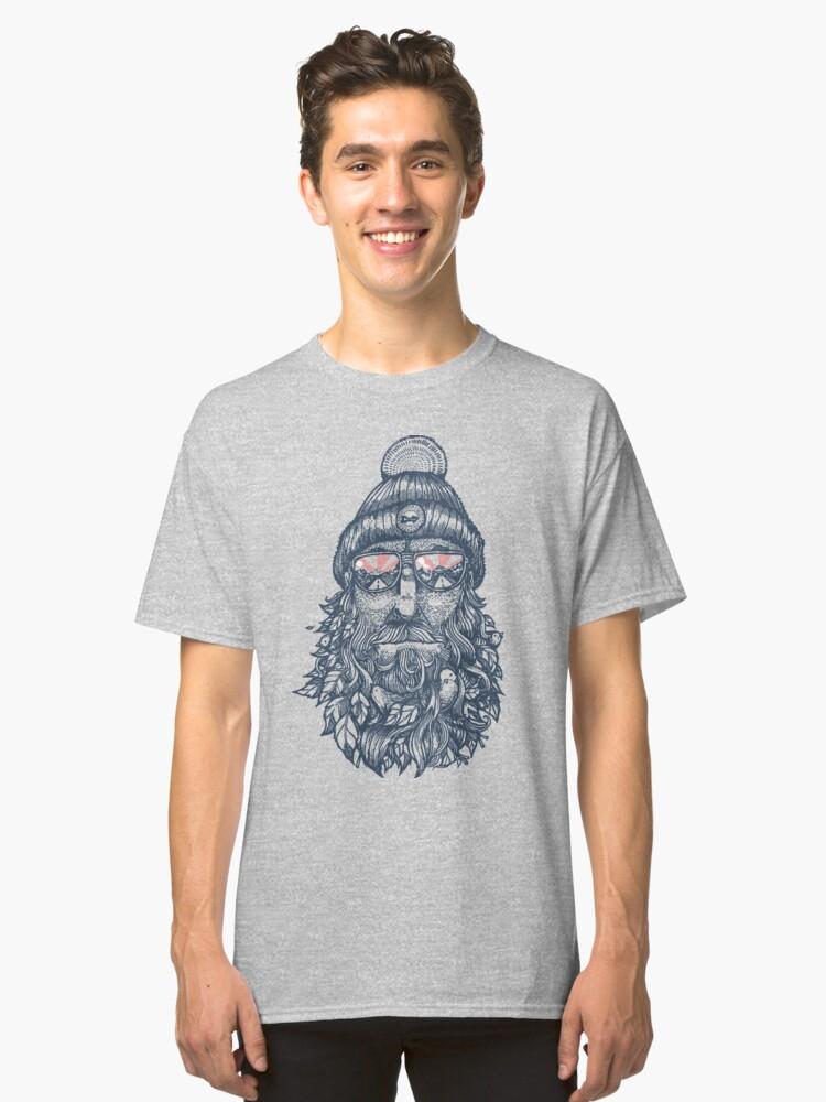 Bird beard shirt Classic T-Shirt Front
