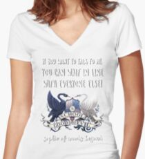 Sophie Of Woods Beyond Quote Women's Fitted V-Neck T-Shirt
