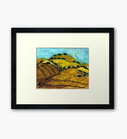 California Hills In Summer(Fields Of Gold) Framed Print