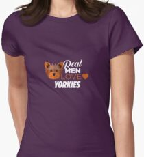 Real Men Love Yorkies  Womens Fitted T-Shirt
