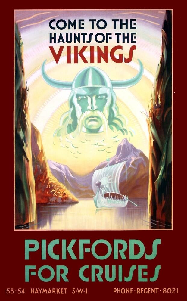 Vintage Scandinavia Vikings Cruise Travel by pdgraphics