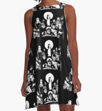 Horror RETRO Vintage Drive In Movie Monsters A-Line Dress