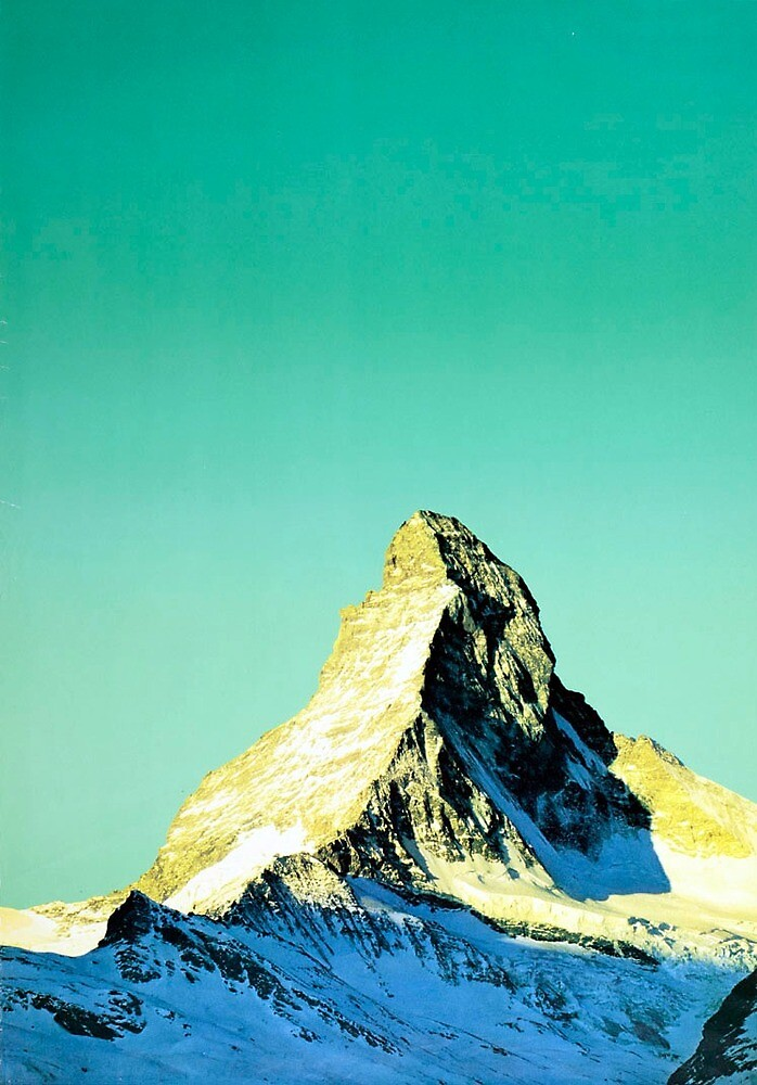 Vintage Matterhorn Switzerland Travel by pdgraphics