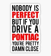 Pontiac Owners Sticker