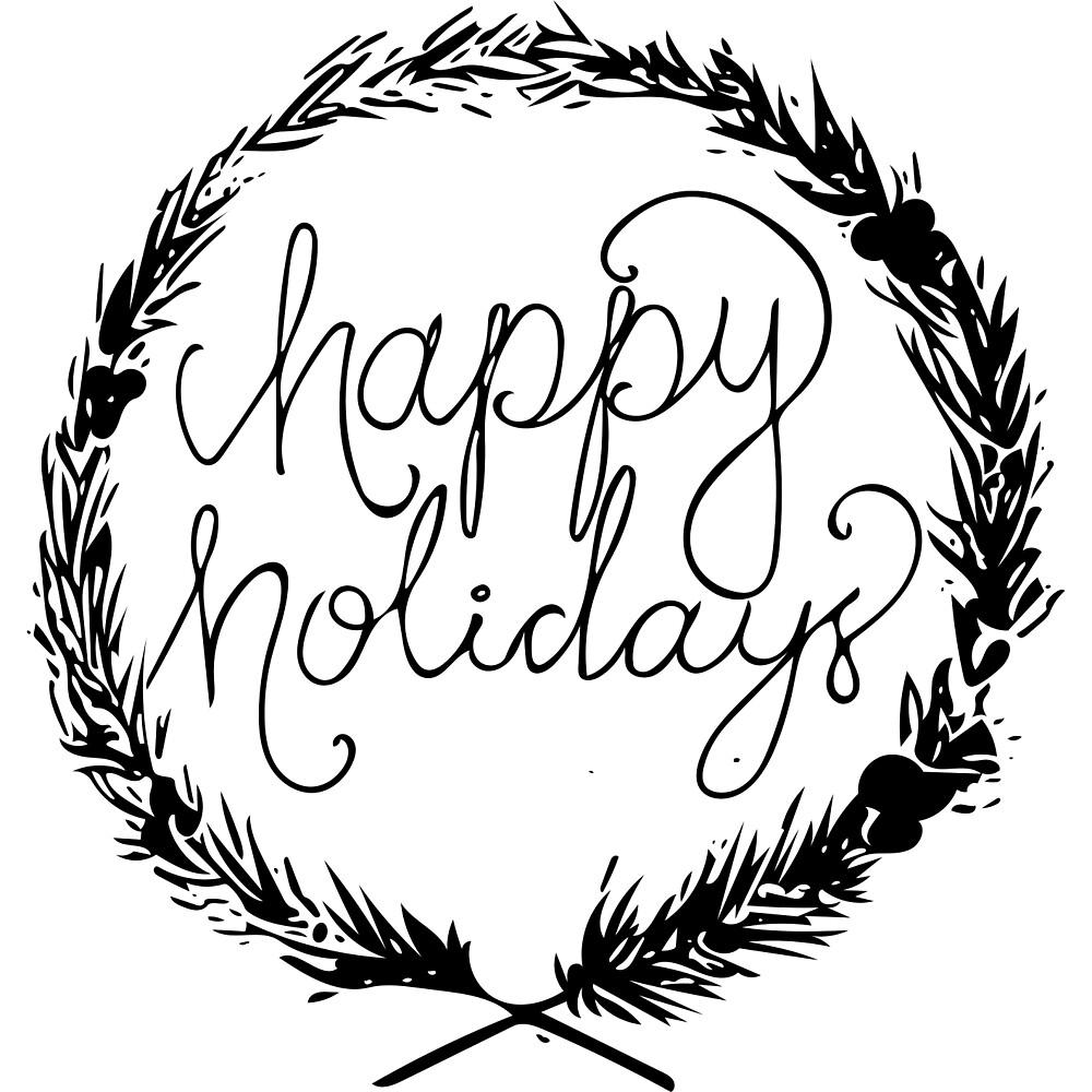 Happy Holidays Wreath by damirarkh