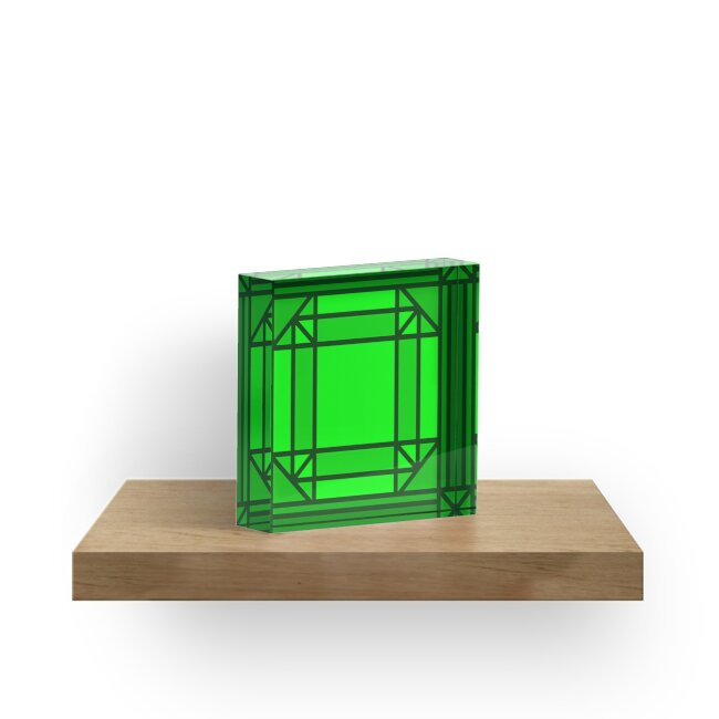 Glass Stained Jewels- Emerald by Juli Kilo Mike