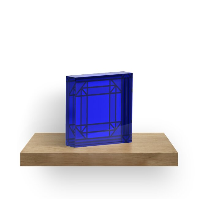 Glass Stained Jewels- Sapphire by Juli Kilo Mike