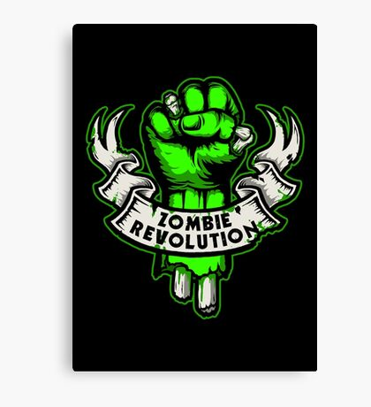 Zombie Revolution! -green- Canvas Print
