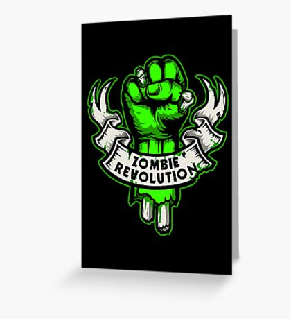 Zombie Revolution! -green- Greeting Card