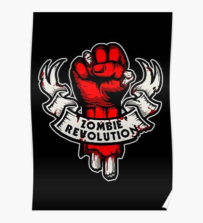 Zombie Revolution! -red- Poster