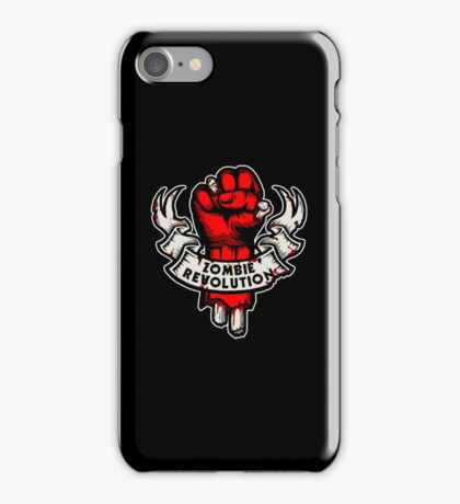 Zombie Revolution! -red- iPhone Case/Skin