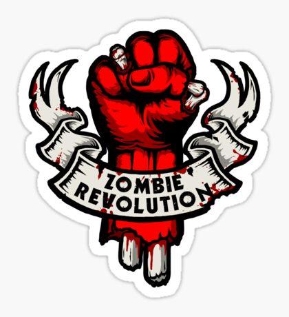 Zombie Revolution! -red- Sticker