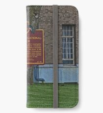 Old West End First Congregational Church Historical Marker iPhone Wallet/Case/Skin