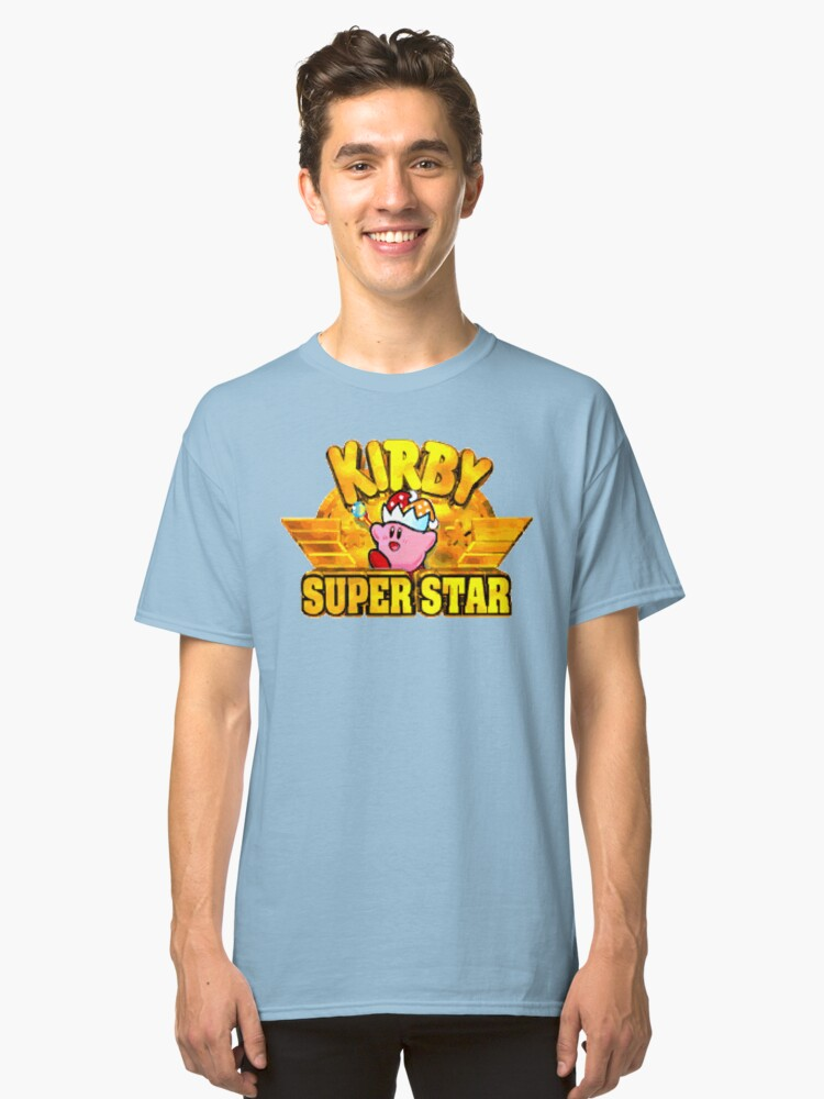 Kirby Super Star (SNES Title Screen) Classic T-Shirt Front