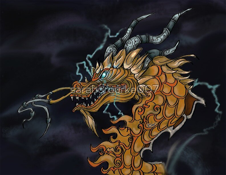 Night Thundering August Cloud Serpent  by sarahorourke007