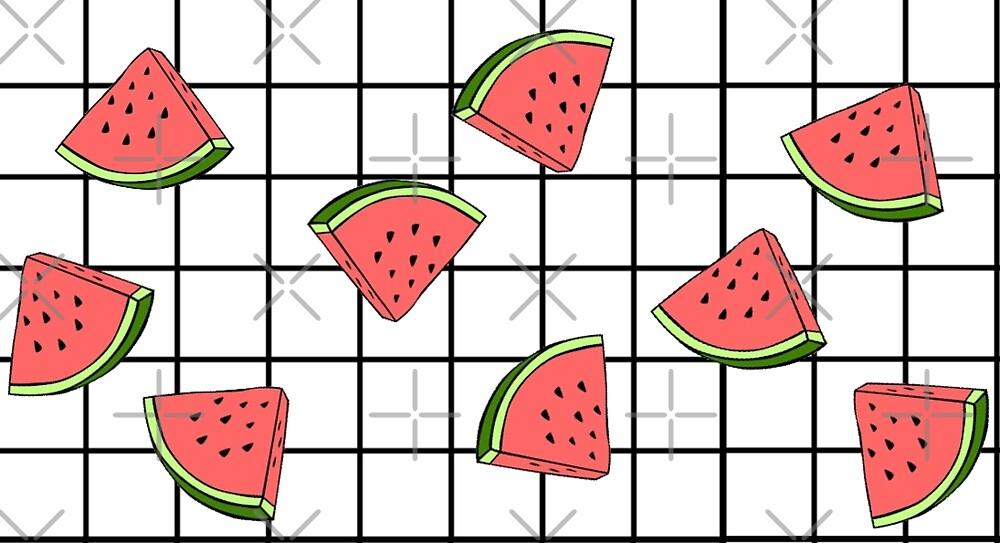watermelon grid by Gloria Lam
