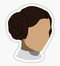 Princess Leia Head Sticker