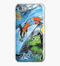 The blue Circus- Tribute to Chagall iPhone Case/Skin