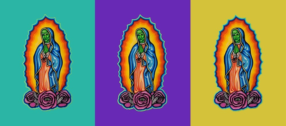 Cosmic Guadalupe Trio by Patrick Rulh