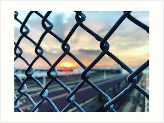 Sunset at the Train Yard, 2016 by Marc Zahakos