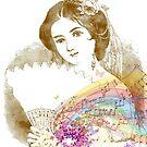 Vintage Fan Lady Sheet Music by moondreamsmusic