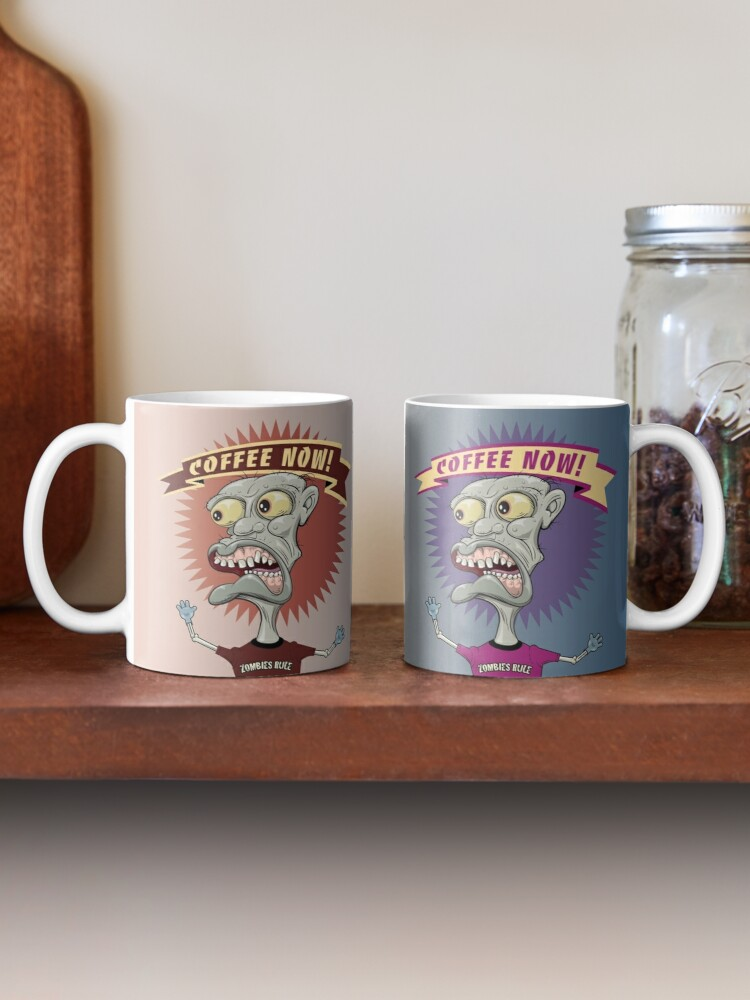 Alternate view of Zombies Rule Mug