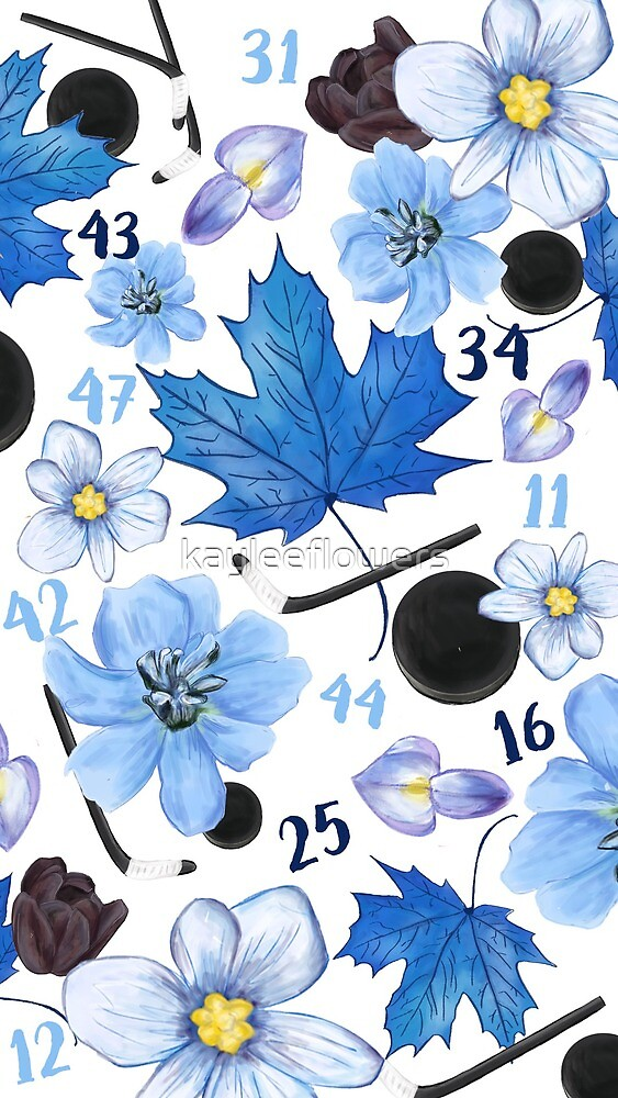 Floral Toronto Maple Leafs Design by kayleeflowers