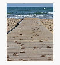 Into the Waves (Castelldefels, Spain) Photographic Print