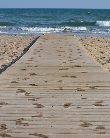Into the Waves (Castelldefels, Spain) by Michael Lempert