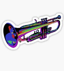 Colorful Trumpet Sticker