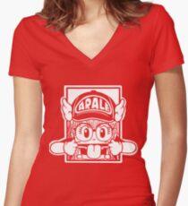 ARALE Women's Fitted V-Neck T-Shirt