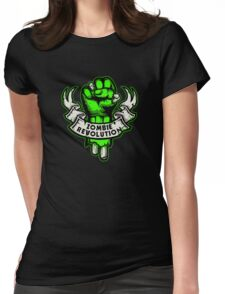 Zombie Revolution! -green- Womens Fitted T-Shirt