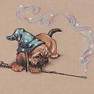 Puggle Magician (not muggle magician) by justteejay