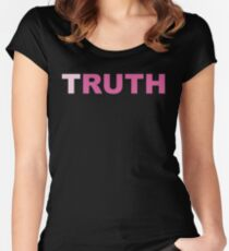 Ginsburg You Cant Spell Truth Without Ruth Bader  Women's Fitted Scoop T-Shirt
